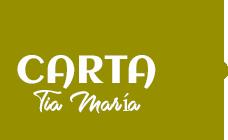 Carta Restaurante Tía María